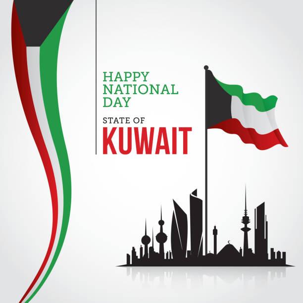 kuwait national day celebration - uae flag stock illustrations