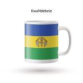 KwaNdebele flag souvenir mug on white background.