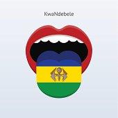 KwaNdebele language. Abstract human tongue.
