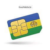 KwaNdebele mobile phone sim card with flag
