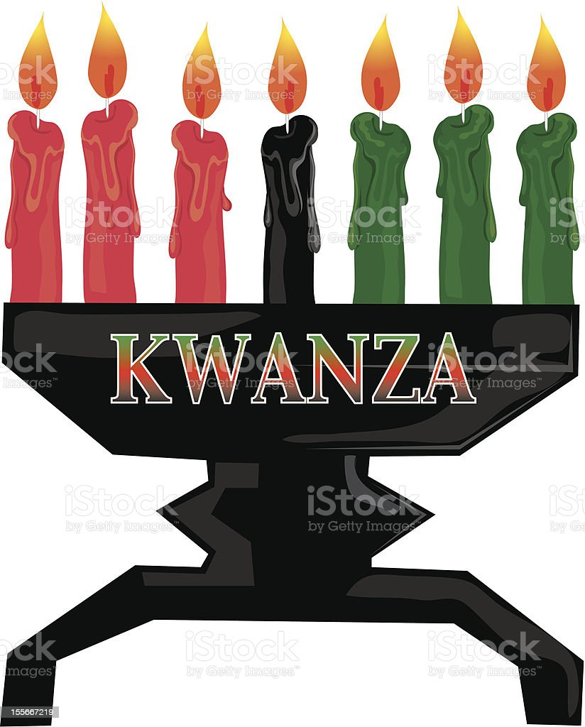Kwanza candles royalty-free stock vector art