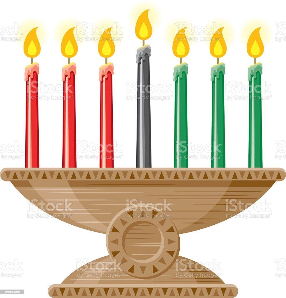 Kwanzaa velas (Mishumaa Saba - ilustração de arte em vetor