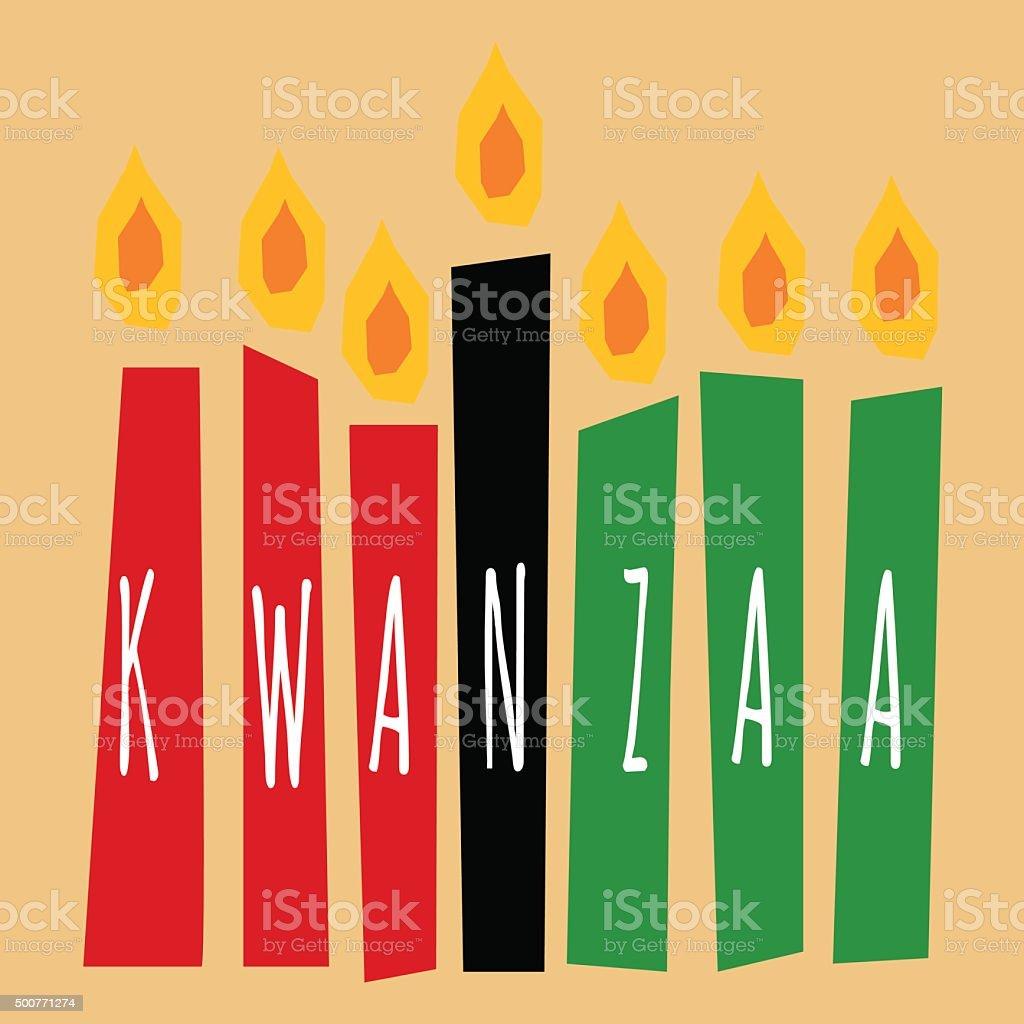 kwanzaa velas - ilustração de arte em vetor