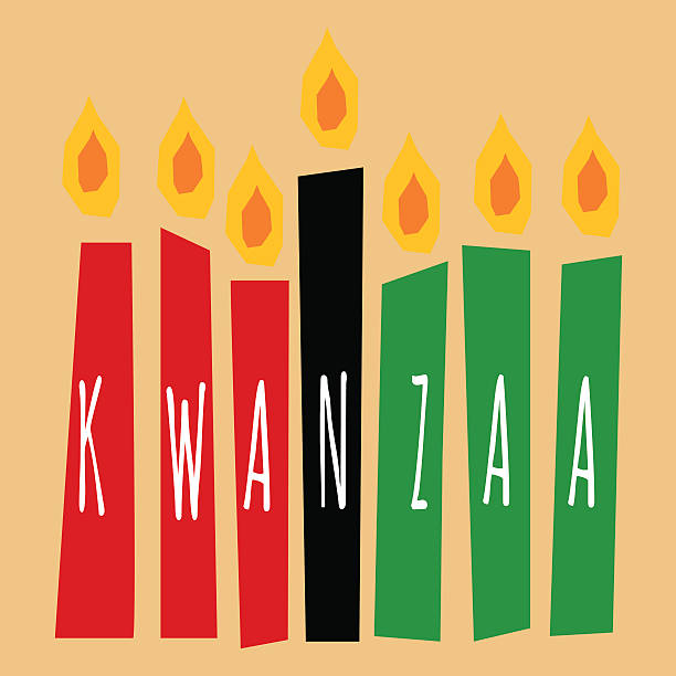 kwanzaa candles vector art illustration