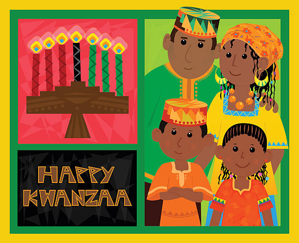 Kwanzaa carte - Illustration vectorielle