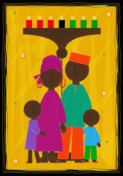 Diseño de Kwanzaa - ilustración de arte vectorial
