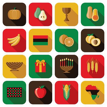 Kwanzaa Holiday Icon Set
