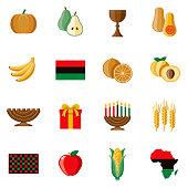 Kwanzaa Icon Set
