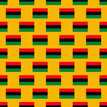 Kwanzaa Pan-African Flag Pattern