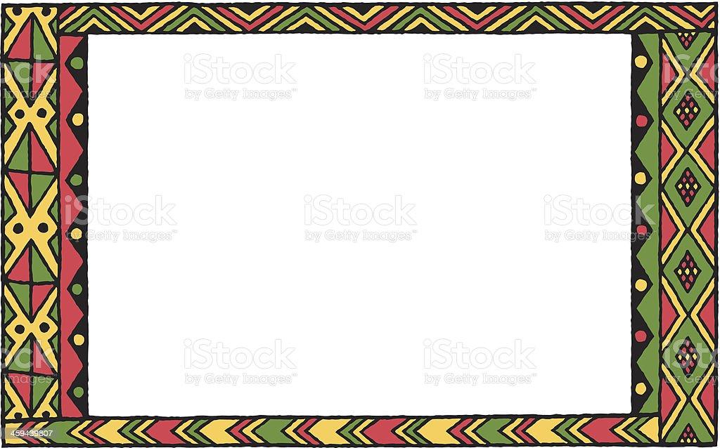 Kwanzaa padrão quadro C - ilustração de arte em vetor