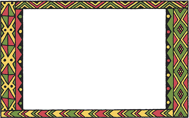 Kwanzaa Pattern Frame C vector art illustration