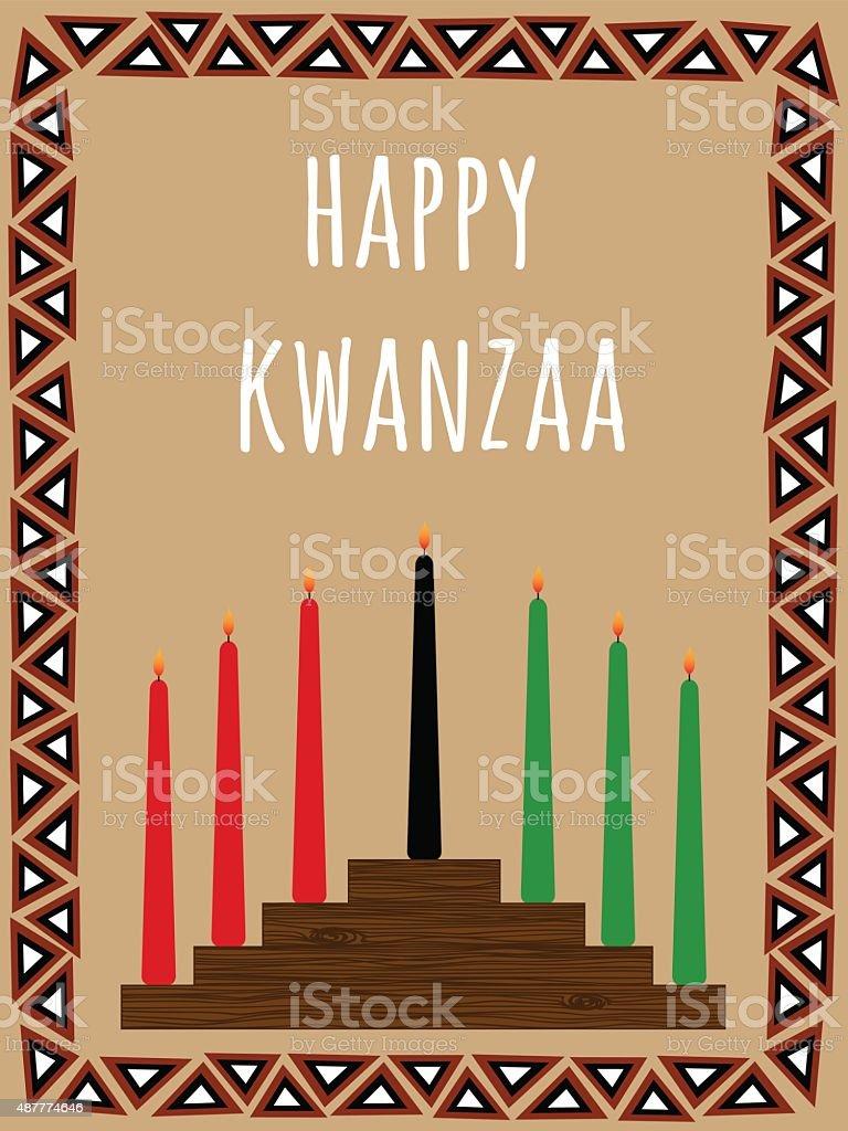 Kwanzaa cartão postal - ilustração de arte em vetor