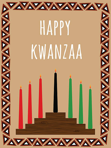 Kwanzaa carte postale - Illustration vectorielle