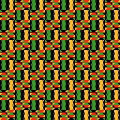 Kwanzaa Seamless Pattern