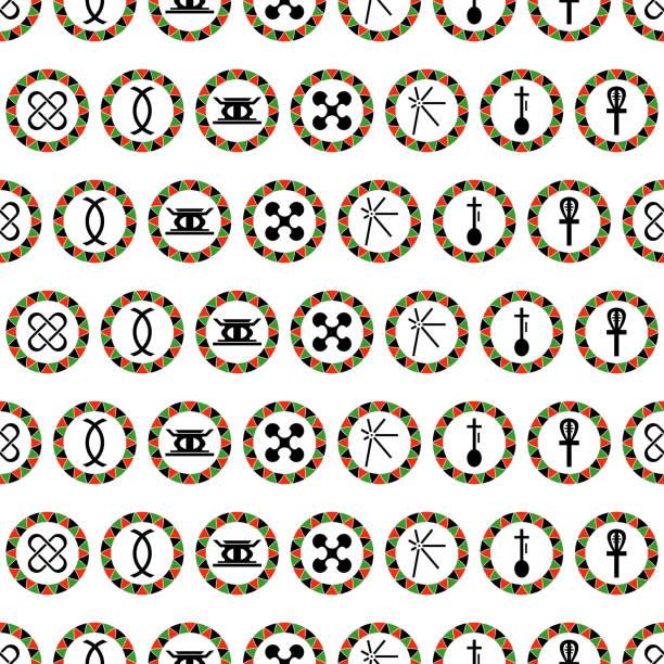 Kwanzaa Seamless Pattern Colorful repeating pattern design for Kwanzaa kwanzaa stock illustrations