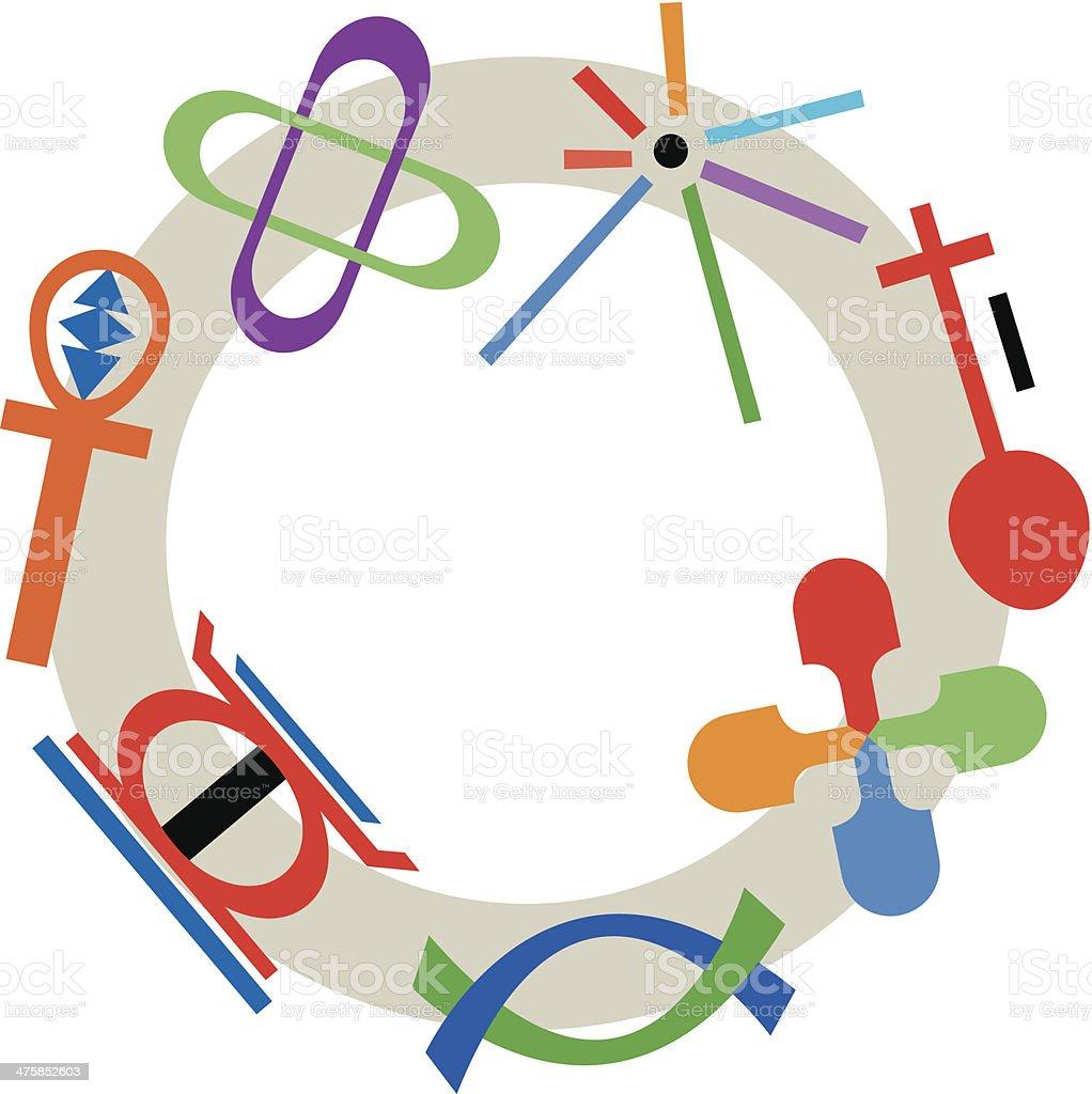 Kwanzaa Symbols C - ilustração de arte em vetor