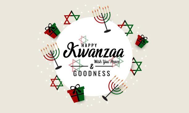 Kwanzaa Kwanzaa greeting card or background. vector illustration. kwanzaa stock illustrations