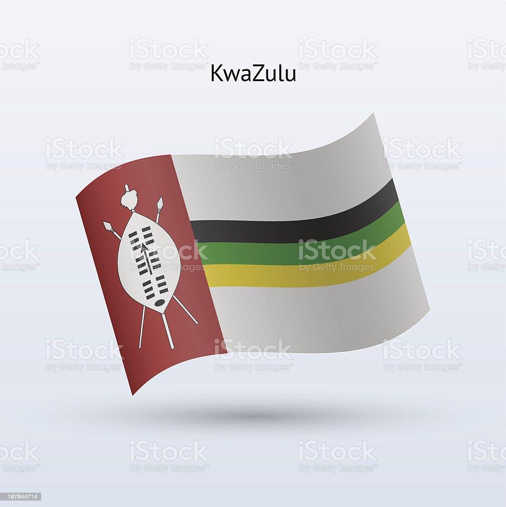 KwaZulu Flag royalty-free stock vector art