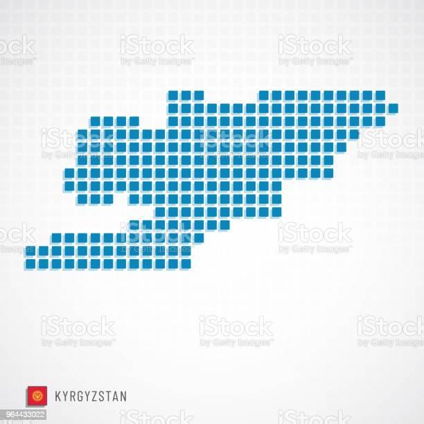 Vetores de Ícone Do Mapa E Bandeira Do Quirguistão e mais imagens de Arte