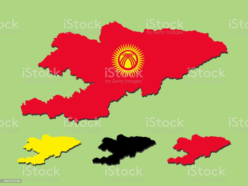 Map Of Asia Kyrgyzstan.Kyrgyzstan Map Stock Vector Art More Images Of Asia Istock