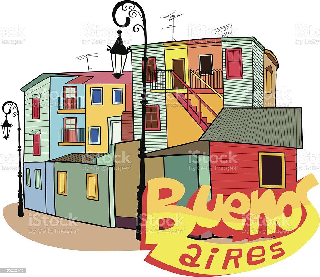 La Boca, Buenos Aires, Argentina vector art illustration