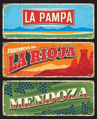 La Pampa, La Rioja, Mendoza, provincias argentinas
