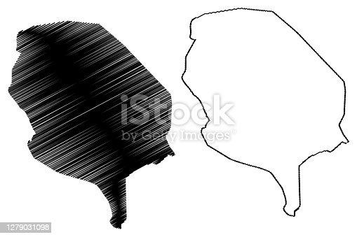 istock La Paz City (Plurinational State of Bolivia, Pedro Domingo Murillo Province) map vector illustration, scribble sketch City of Nuestra Senora de La Paz or Chuqi Yapu map 1279031098