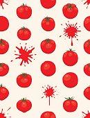 La Tomatina background [Tomatos seamless pattern]