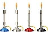 Lab burner  flame