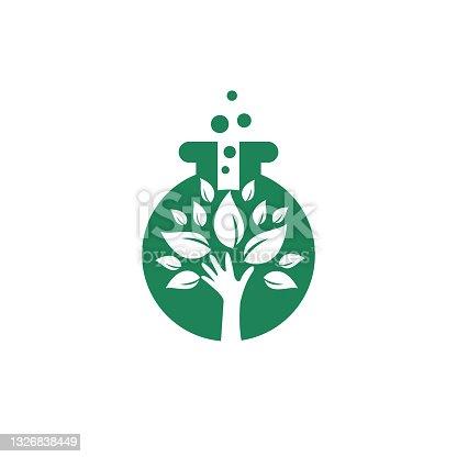 istock Lab care vector logo design. Natural lab logo design concept 1326838449