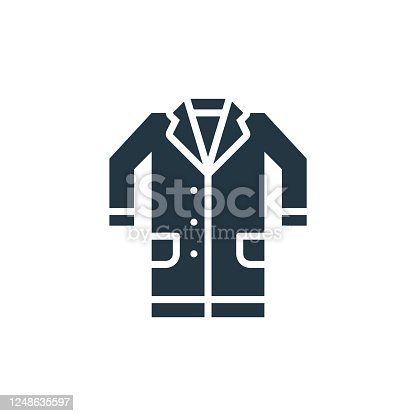 istock lab coat vector icon. lab coat editable stroke. lab coat linear symbol for use on web and mobile apps, logo, print media. Thin line illustration. Vector isolated outline drawing. 1248635597