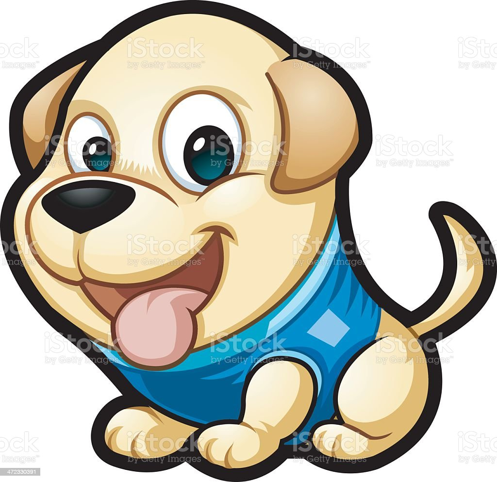 Lab puppy royalty-free lab puppy stock vector art & more images of animal