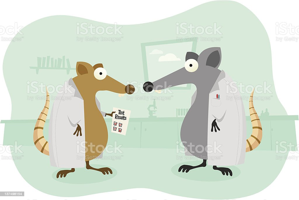 Lab Rats vector art illustration