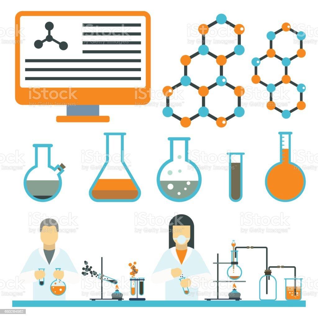 lab symbols test medical laboratory scientific biology