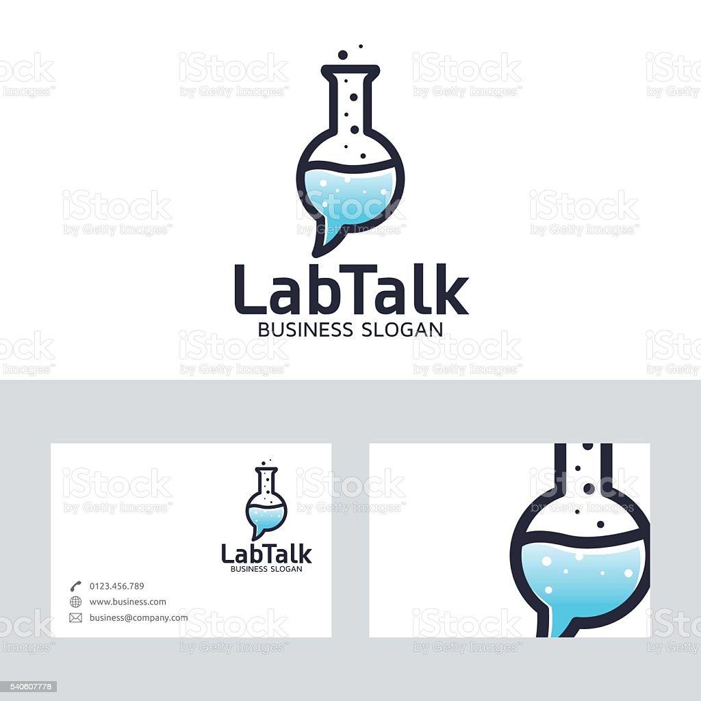 Ilustración de Laboratorio Hablar Vector De De Logotipo Con La ...