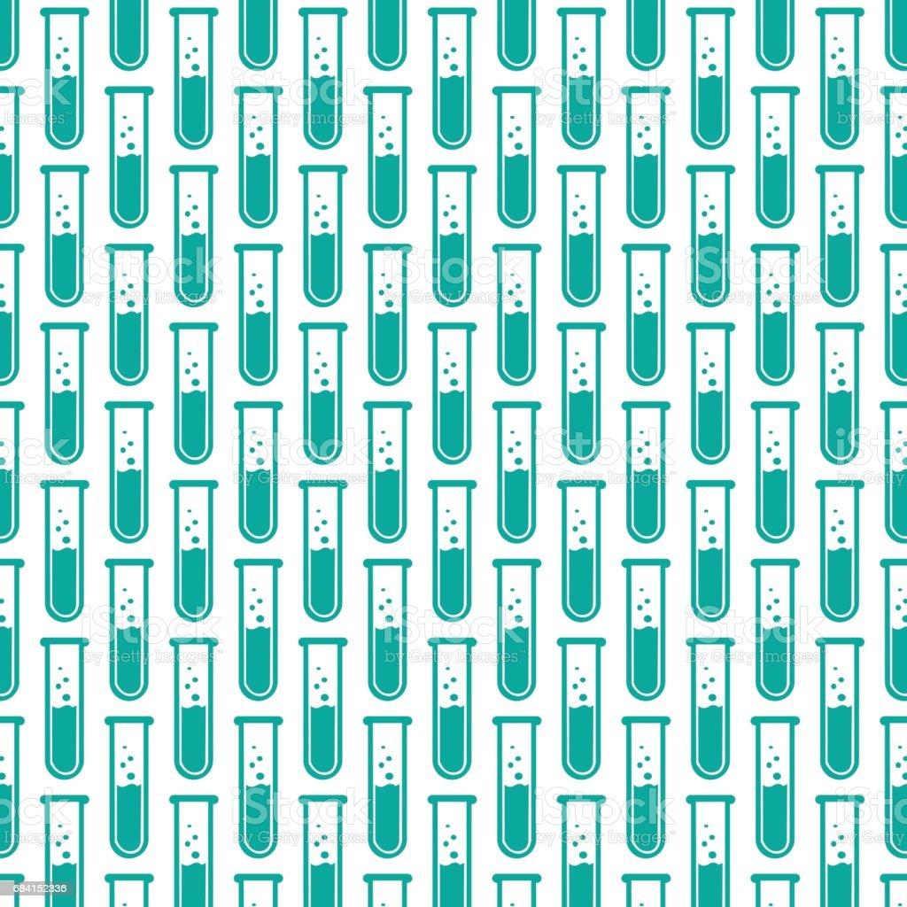 Lab Tube Icon pattern background lab tube icon pattern background - immagini vettoriali stock e altre immagini di affari finanza e industria royalty-free