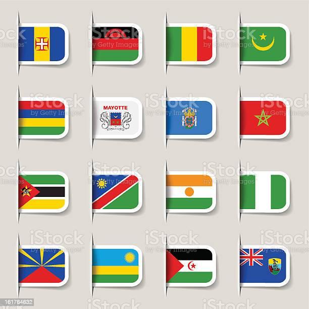 Etiquetabandeiras Africanas - Arte vetorial de stock e mais imagens de Arábia