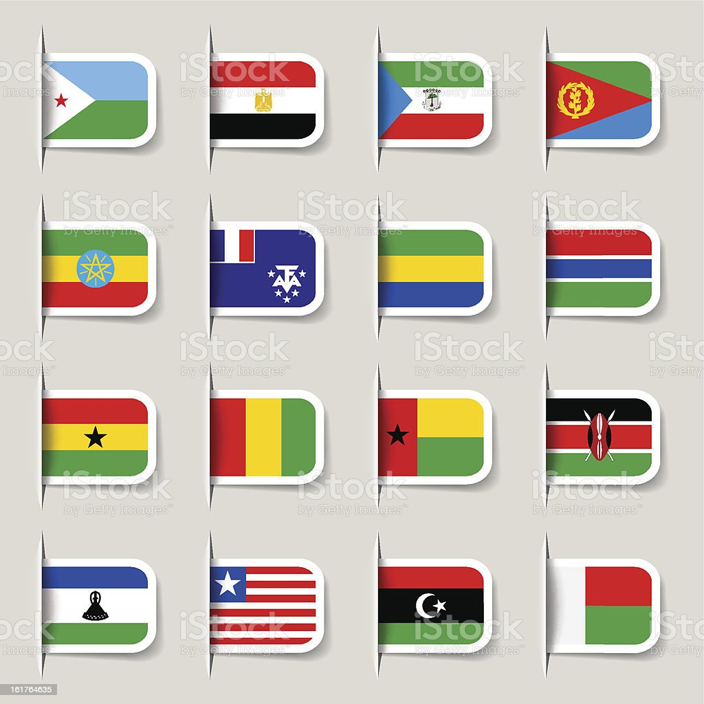 Label - African Flags royalty-free label african flags stock vector art & more images of africa