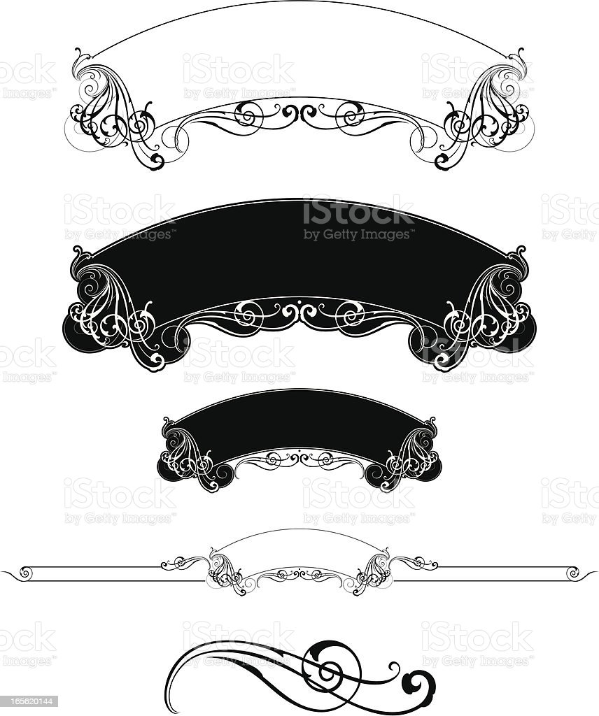 Label Banner Design royalty-free label banner design stock vector art & more images of art nouveau