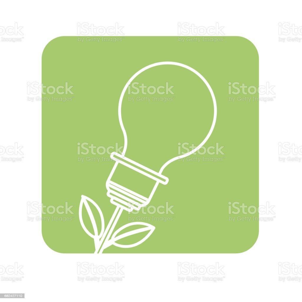 label bulb plant with leaves to save environment royalty-free label bulb plant with leaves to save environment stock vector art & more images of biology