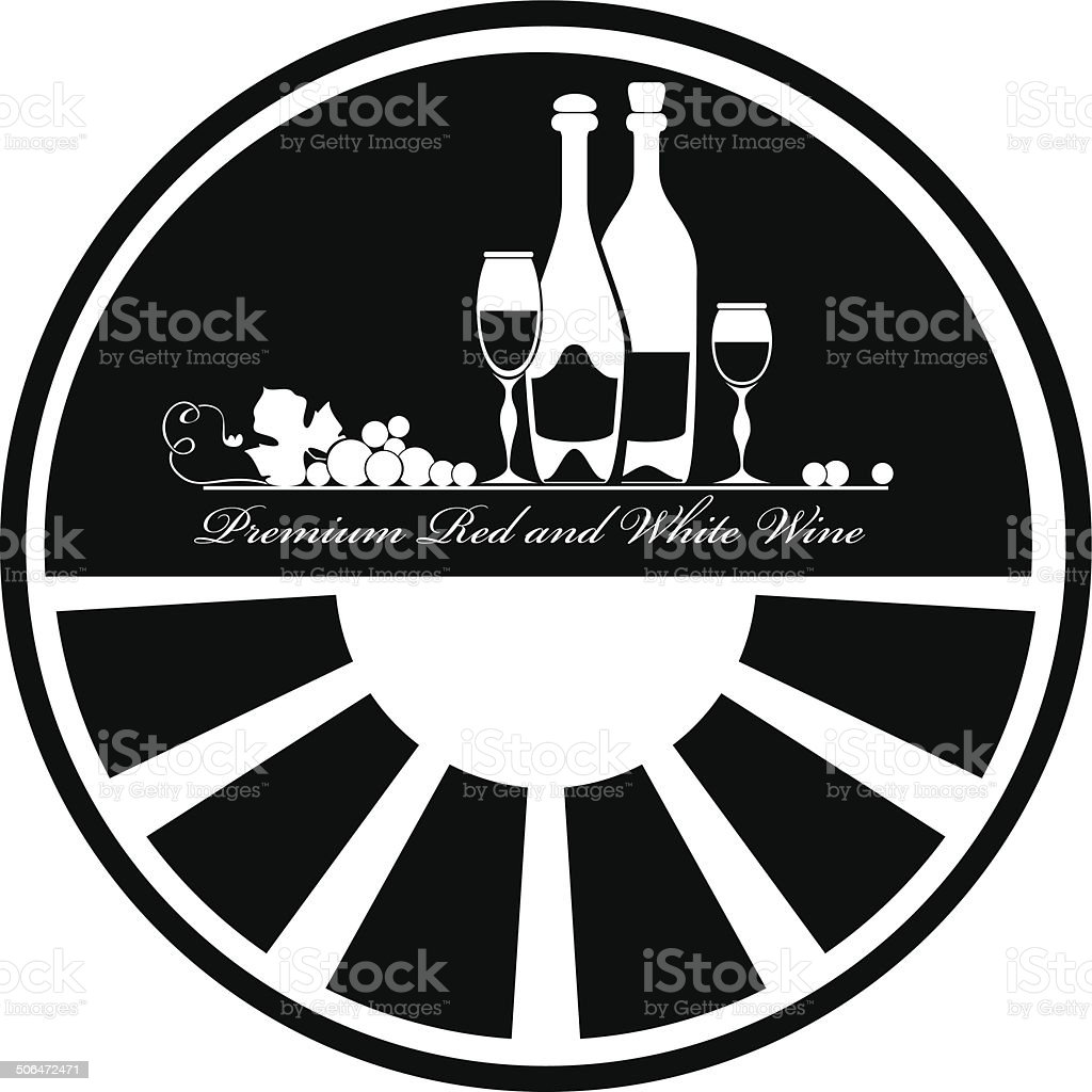 Label for wine vector art illustration