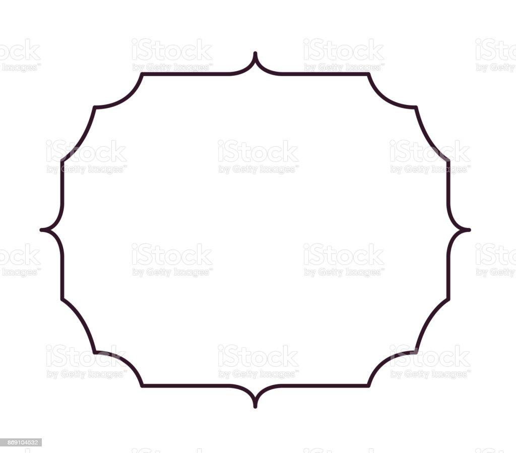Label Frame Decoration Silhouette Design Stock Vector Art & More ...