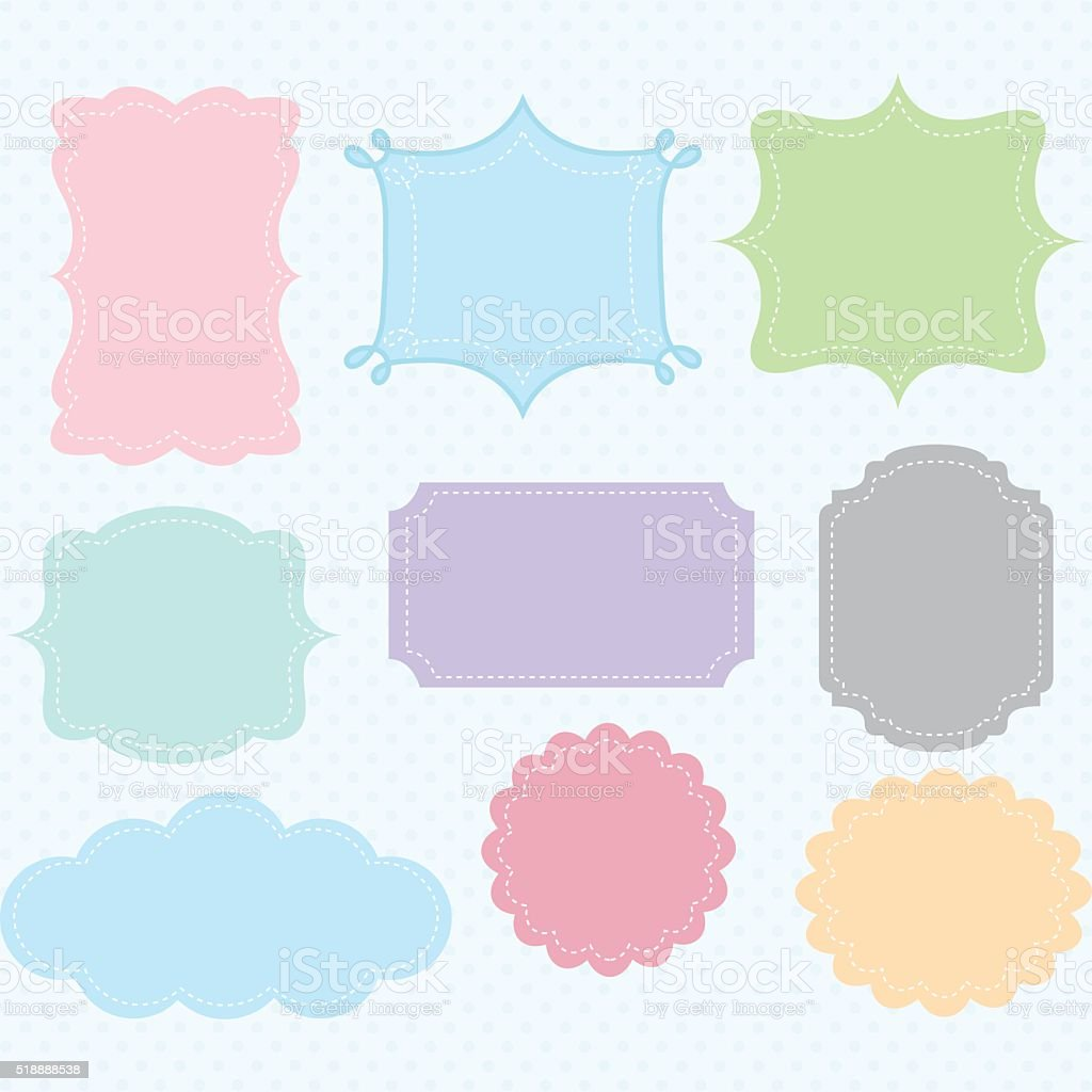 Label Frames Border Collections vector art illustration