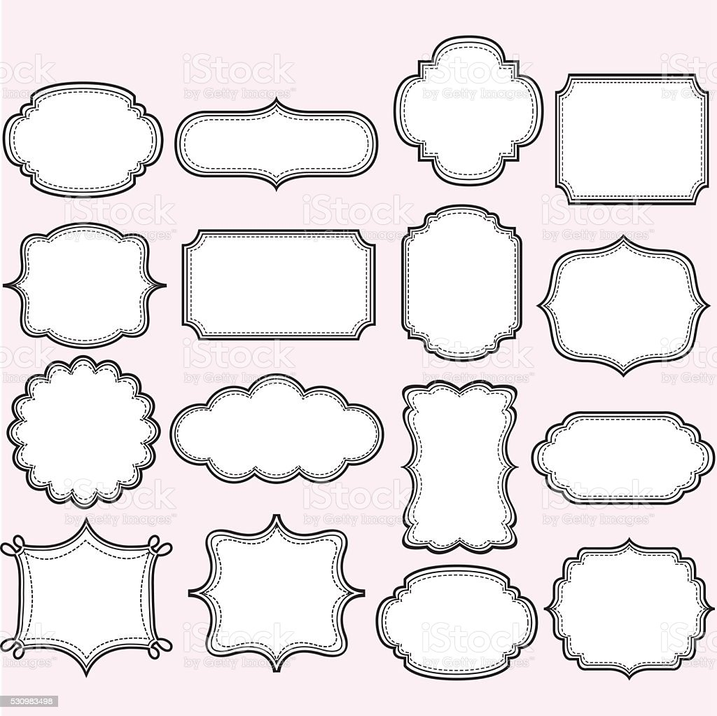 Label Frames Collections vector art illustration