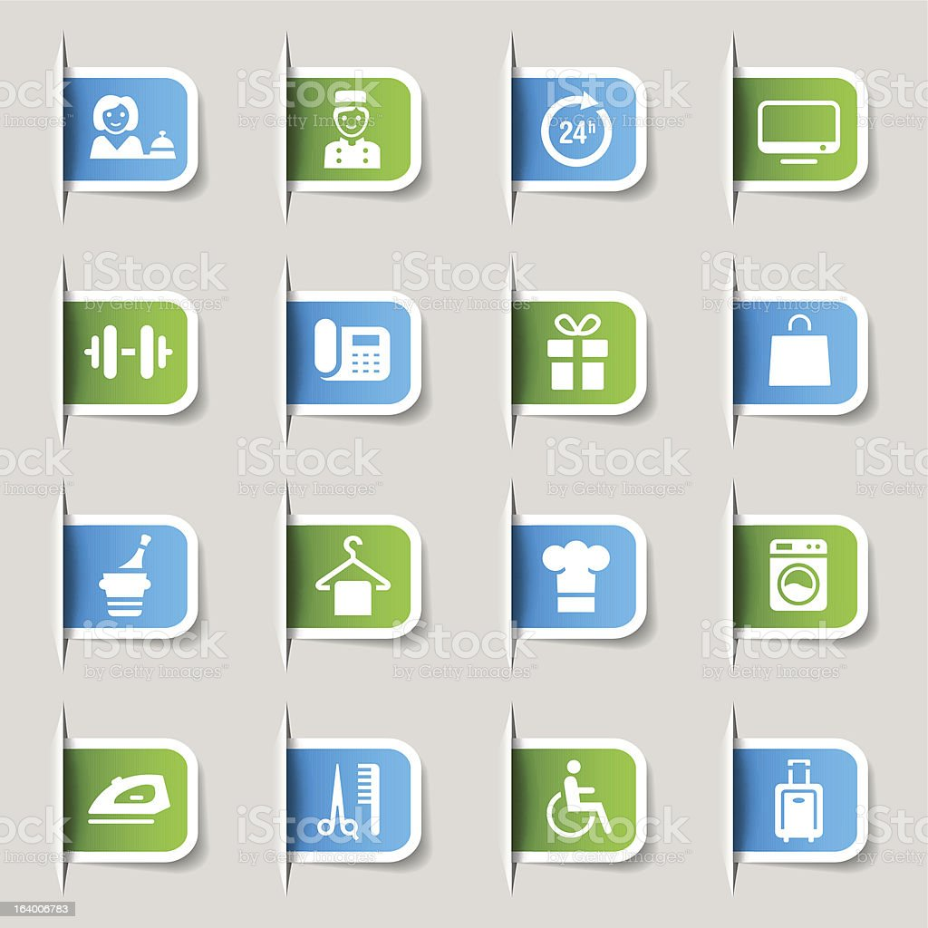 Label - Hotel icons royalty-free stock vector art