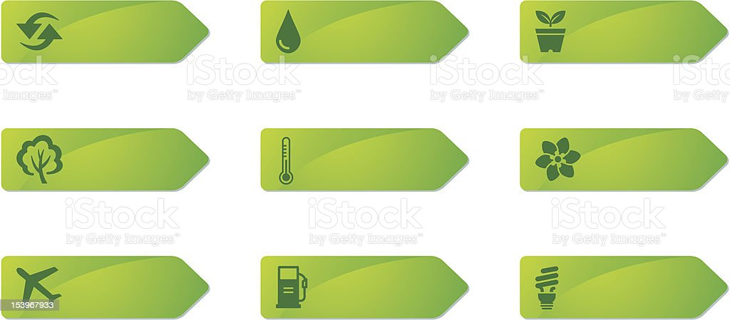 Label Icon Series | Environment royalty-free stock vector art