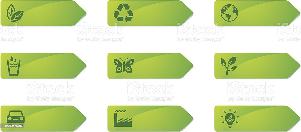 Label Icon Series | Recycle royalty-free stock vector art