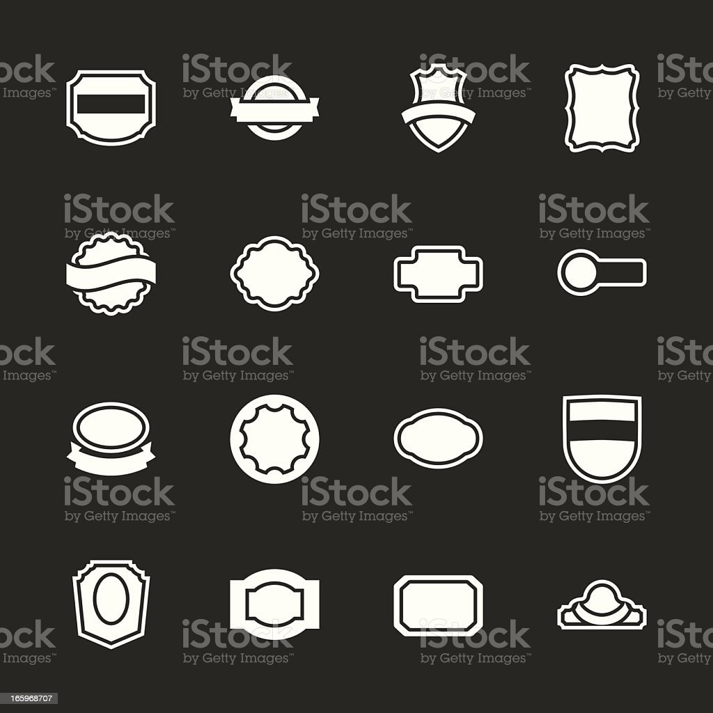 Label Icons Set 2 - White Series | EPS10 royalty-free stock vector art