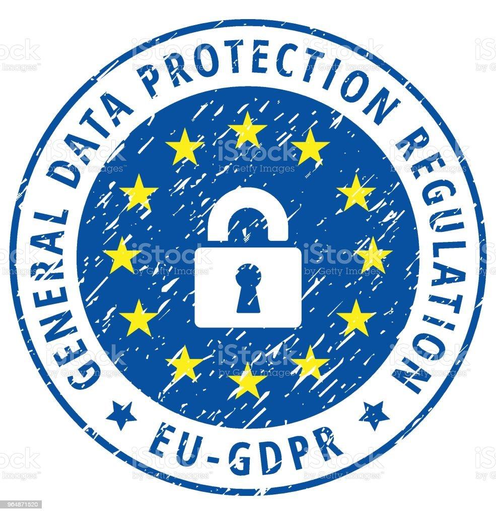 EU GDPR label illustration royalty-free eu gdpr label illustration stock vector art & more images of accessibility