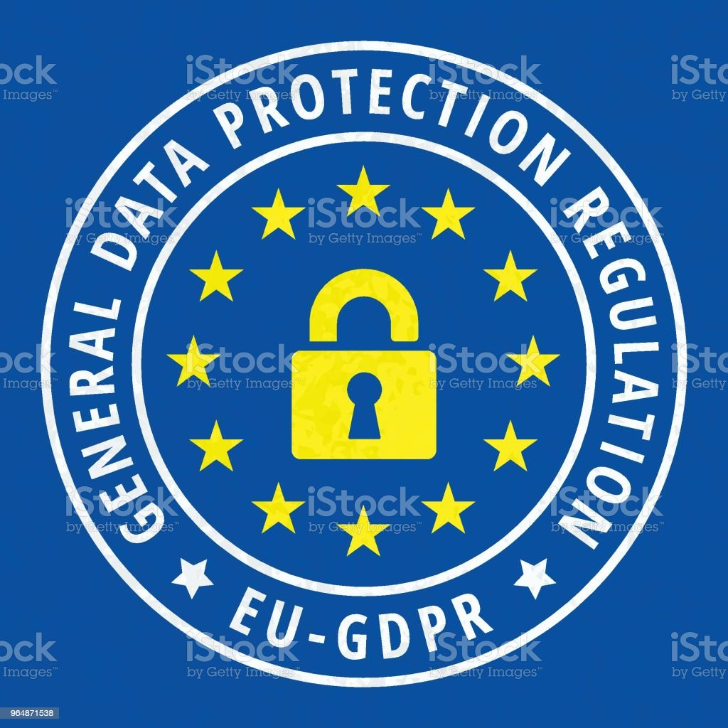 EU GDPR label illustration royalty-free eu gdpr label illustration stock vector art & more images of accessibility